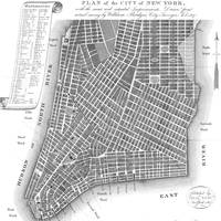 Vintage Map of Lower New York City (1807) BW