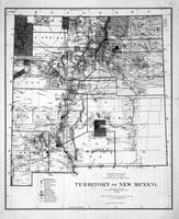 Vintage Map of New Mexico (1882) BW