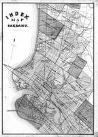 Vintage Map of Oakland California (1878) BW