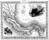 Vintage Map of Panama (1851) BW