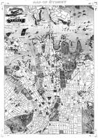 Vintage Map of Sydney Australia (1922) BW