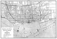 Vintage Map of Toronto (1906) BW