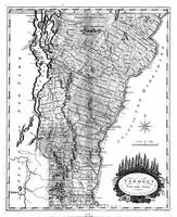 Vintage Map of Vermont (1814) BW
