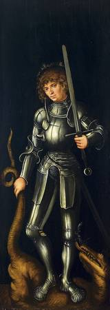 Saint George (Exterior Right Wing) ca. 1514 by Luc