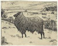 Sheep in a coastal landscape, Richard Roland Holst