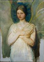 Abbott Handerson Thayer -  Meditating angel