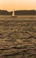 Sailboat and Waves, Piscataqua River, Maine 2004 S