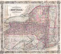 Vintage New York State Railroad Map (1876)
