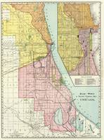 Vintage Chicago Railroad Map (1897)