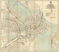 Vintage Downtown Boston Subway Map (1917)