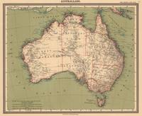 Vintage Australian Topography Map (1888)
