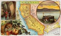 Old Map of California with Illustrations (1890)