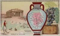 Vintage Map of Greece with Illustrations (1890)
