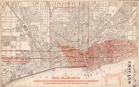 Vintage Railroad Map of Chicago (1871)