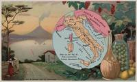 Vintage Map of Italy with Illustrations (1890)