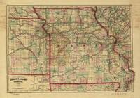 Vintage Missouri Railroad Map (1872)