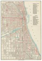 Vintage Chicago Railroad Map (1893)