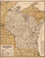 Vintage Wisconsin Railroad Map (1900)
