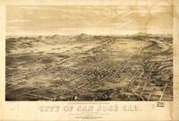 Bird's Eye View of San Jose, California (1869)