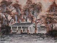 Old House Watercolor Painting