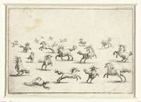 Horses in various positions, Jacques Callot, 1621
