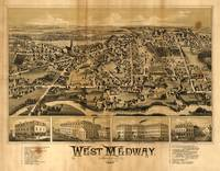 Aerial View of West Medway, Massachusetts (1887)