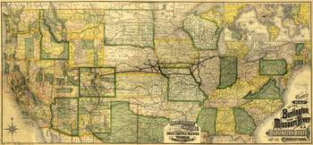 Map of the Burlington & Missouri River Railroad (1