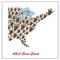 ASL East Coast I Love You Map