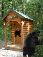 outhouse welcomes the bears