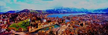 city of luzernfrom chateau gutsch Switzerland