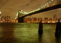 Brooklyn Bridge on A Cloudy Night