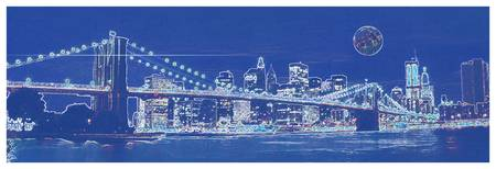 Blueprint Drawing of New York City USA