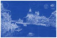 Blueprint Drawing of Venice