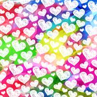 Watercolor Rainbow Hearts