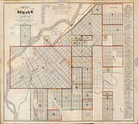 Map of Denver, Colorado (1871)