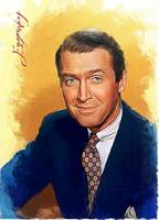 Jimmy Stewart by artist Edward Vela