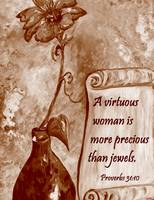 A Virtuous Woman in Sepia