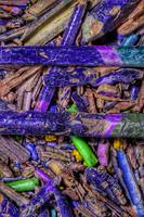 Crushed Art Pencils Colour-Field, No-7,  Edit C