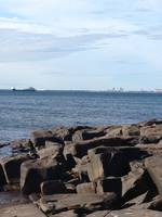 Duluth Shore Line with Ship