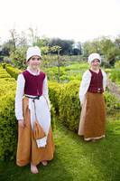Tudor girls in the garden