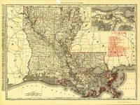 Map of Louisiana (1895)