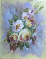 Floral Roses and Blossoms Painting