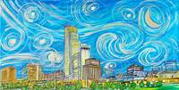 Starry Night in Omaha Sky