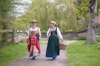 Tudor women walking