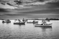 Cape Porpoise Harbor in Black and White