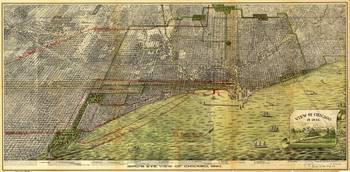 Aerial View of Chicago Illinois (1893)