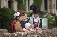 Tudor girls on the bridge