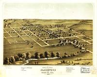 Bird's Eye View of Blairstown, Iowa (1868)