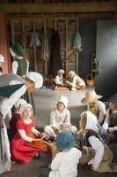 Tudor children at school