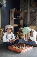 Tudor boys playing chess